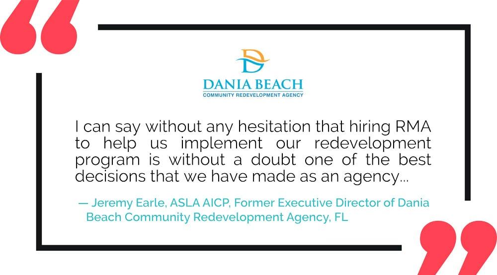 RMA Testimonial: Dania Beach CRA, FL