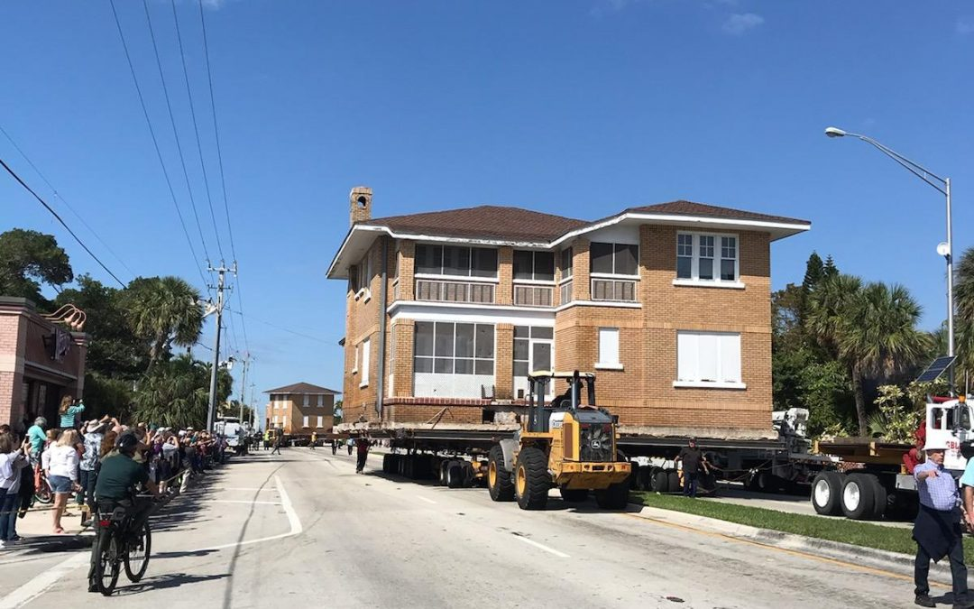 The Historic McNab House moved to a new home
